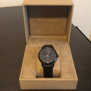 Burberry Watch with Black leather Strap